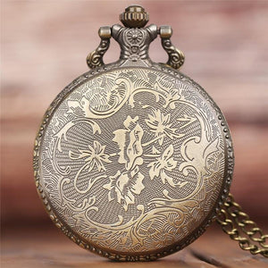 Wild Wolf Bronze Antique Pocket Watch