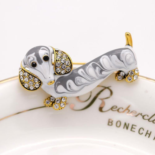 Cute Dachshund Lover Brooch