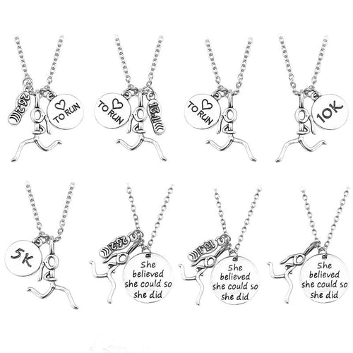 Necklaces Love To Run Engraved Necklace GiveMe-Gifts