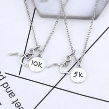Love To Run Engraved Necklace