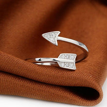 Arrow Crystal Resizable Ring