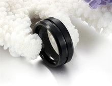 Men's Black Titanium Ring