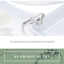 Glittering Heart Ring - 925 Sterling Silver
