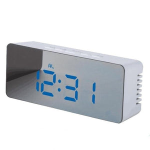 LED Mirror Digital Alarm Clock And Thermometer
