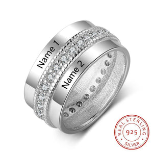 Rings Couple Of Love - Customized Name Ring - 925 Sterling Silver 10 GiveMe-Gifts