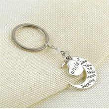 Love You To The Moon And Back Family Keychain