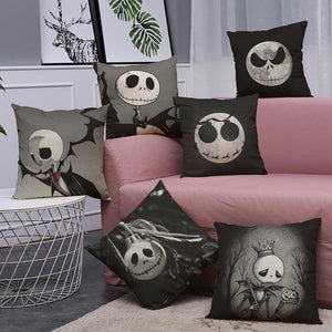 The Nightmare Before Christmas Halloween Decorations Set Throw Pillow Cover