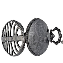 Black Spine Ribs Hollow Halloween Vintage Pocket Watch