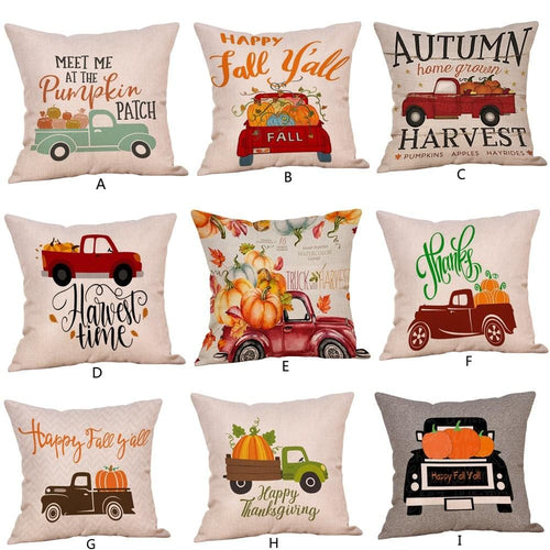 Pillow Covers Happy Fall Y'all Pumpkin Harvest Halloween Decorations Set Throw Pillow Cover GiveMe-Gifts