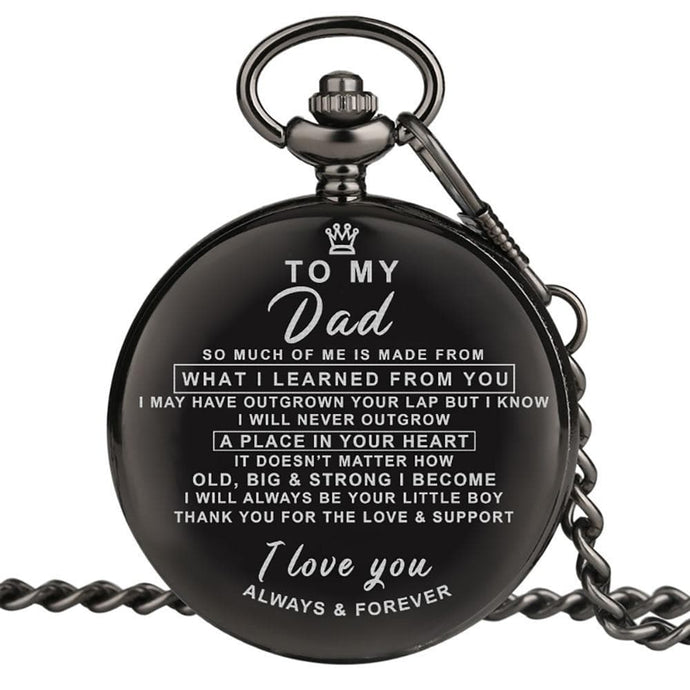 Son To Dad - I Love You Always And Forever Engraved Pocket Watch