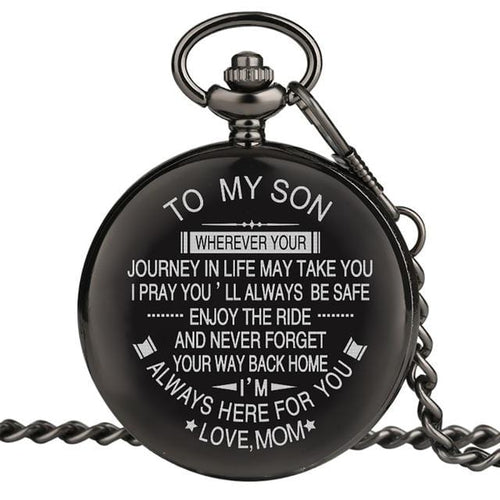 Mom To Son - I Am Always Here For You Pocket Watch