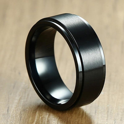 Classic Black Spinner Ring