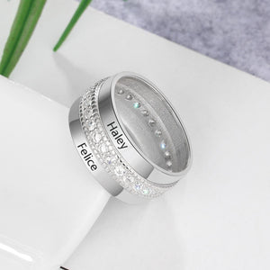 Couple Of Love - Customized Name Ring - 925 Sterling Silver