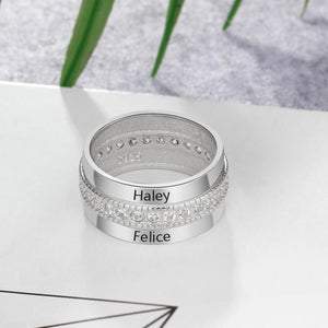 Personalized Engraved Name Luxurious Ring- 925 Sterling Silver