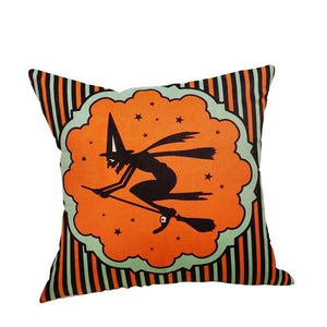 Trick Or Treat Pumpkin Halloween Decorations Set Throw Pillow Cover