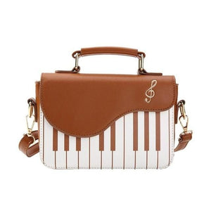 Piano Leather Handbag