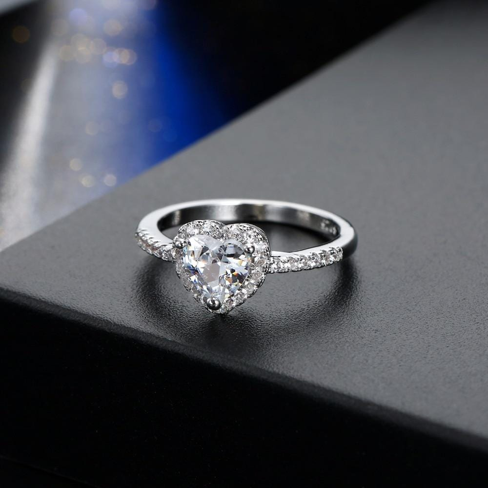 Crystal Heart Luxurious Ring