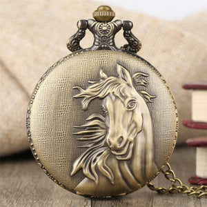 Pocket Watches Bronze Elegant Horse Antique Pocket Watch GiveMe-Gifts