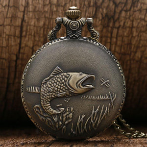 Bass Fish Vintage Pocket Watch