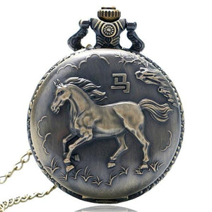 Pocket Watches Bronze Elegant Horse Vintage Pocket Watch GiveMe-Gifts