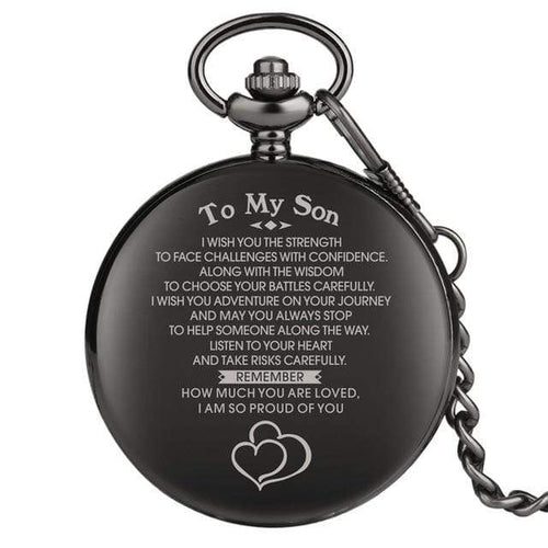 To My Son I Am So Proud Of You Engraved Pocket Watch