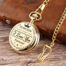 To My Son - I Love You Gold Vintage Pocket Watch