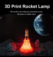 Space Shuttle Shot Up Night Light - 3D LED Rocket Lamp