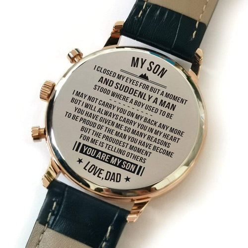Watches Dad To Son - The Proudest Moment For Me Engraved Watch GiveMe-Gifts