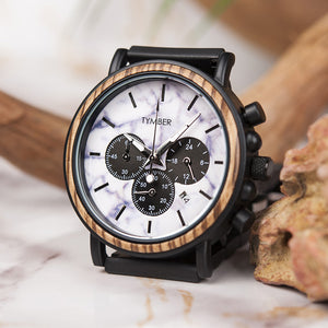 Carrara Wooden Chronograph