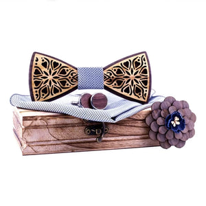 Haddon Wood Bow Tie Set.