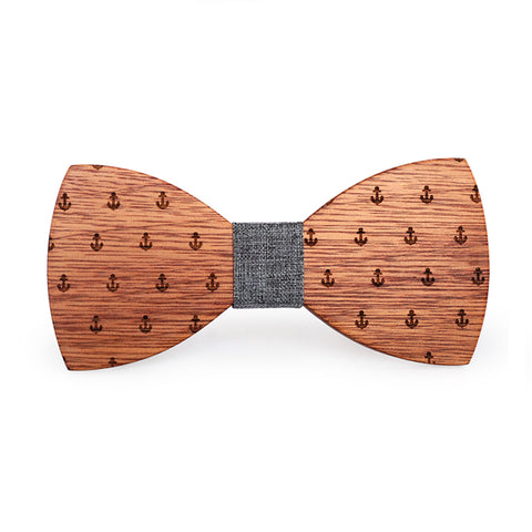 Pearl Wooden Bow Tie