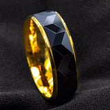 Black Rhombus & 18K Gold Tungsten Ring (8mm)