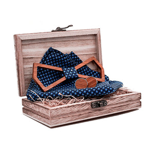 Bourke Wood Bow Tie Set