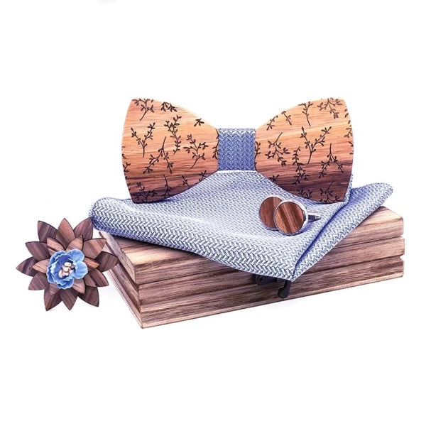 Bradley Wood Bow Tie Set