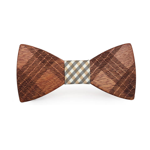 Chopper Wooden Bow Tie