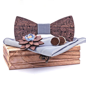 Fortitude Wooden Bow Tie