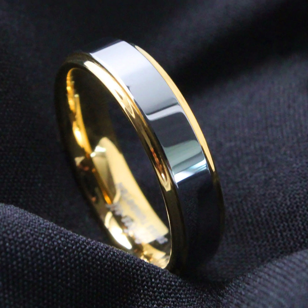 Gold & Silver Tungsten Ring (6mm)