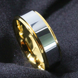 Gold & Silver Tungsten Ring (8mm)