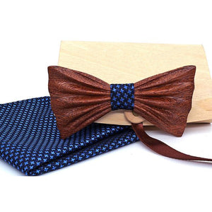 Hudson Wooden Bow Tie Set