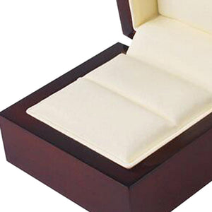 Luxury Solid Ebony Wood Ring Box