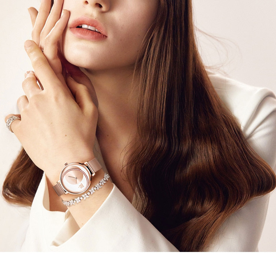 Bridgette Crystal Watch, Earring & Necklace Gift Set