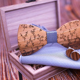 Bradley Wood Bow Tie Set.