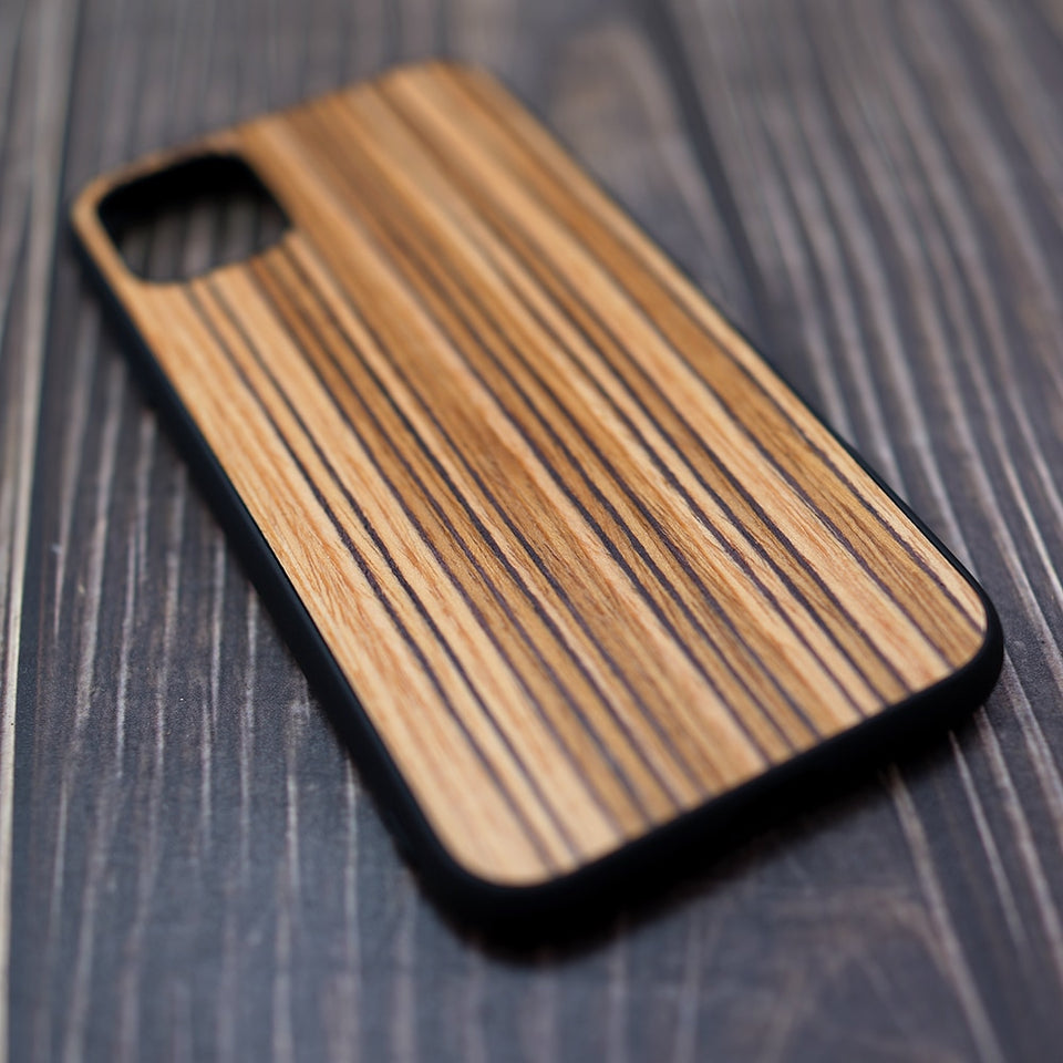 Zebra Wood iPhone Case