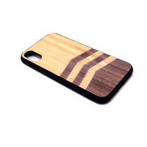 Walnut & Bamboo Wood iPhone Case.