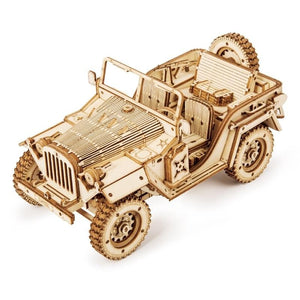 Military Jeep DIY Wooden Model (369 Pieces).