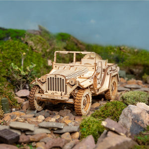 Military Jeep DIY Wooden Model (369 Pieces)