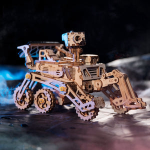 Solar Powered Space Rover Moveable Wooden Model (209 Pieces)