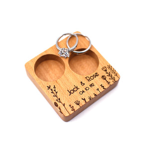 Custom Wedding Ring Bearer (Double Flat).