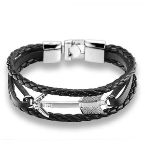 Arrow & Leather Bracelet