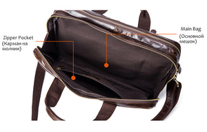 Navigator Leather Messenger Bag